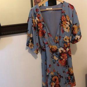 Floral, wrap dress